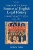 John Baker, Baker and Milsom Sources of English Legal History