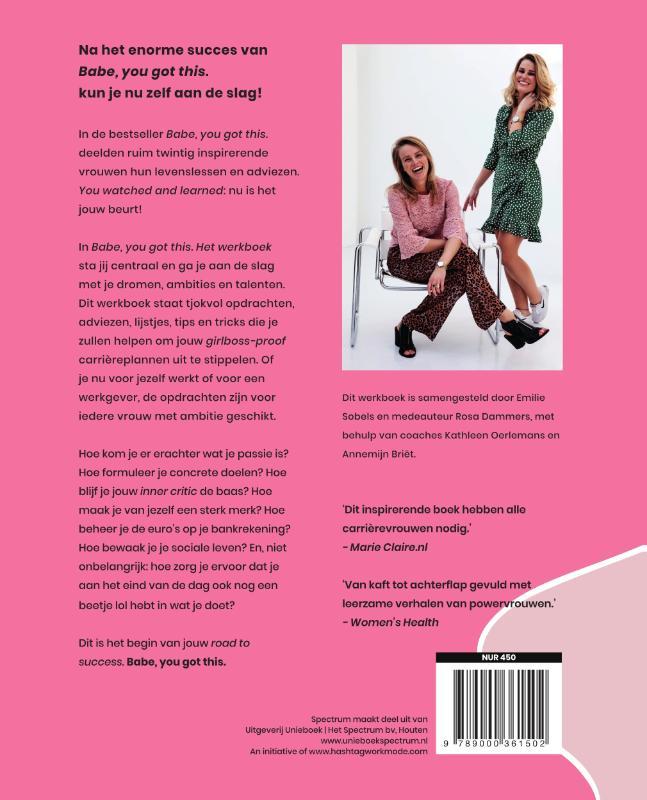 Emilie Sobels, Rosa Dammers,Babe, you got this. Het werkboek