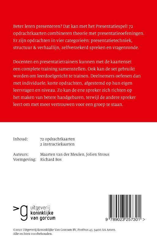 Maarten van der Meulen, Jolien Strous,Presentatiespel