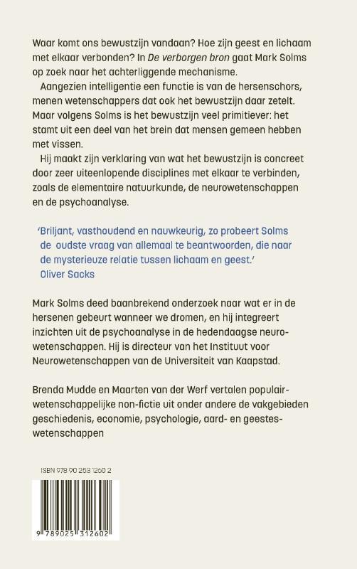 Mark Solms,De verborgen bron
