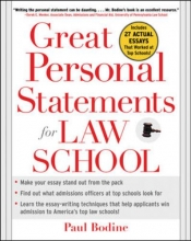 Paul Bodine Great Personal Statements for Law School