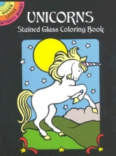 Marty Noble Unicorns Stained Glass Colouring BO