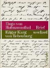 Hofmannsthal, Hugo von Briefwechsel Hofmannsthal Karg von Bebenburg