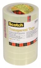 , Plakband Scotch 550 19mmx66m transparant