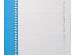 , Ruiterstrook Elba Nr 0 297x6mm verticaal blauw