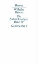 Heinse, Wilhelm Kommentar zu Band 2. Register, Bibliographie