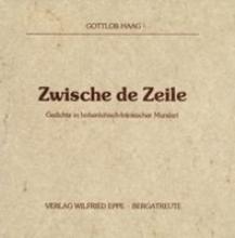 Haag, Gottlob Zwische de Zeile