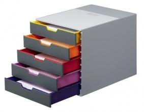 , Ladenbox Durable Varicolor 5 laden grijs