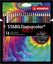 , Kleurpotloden STABILO aquacolor 1624-1-20 etui à 24 stuks