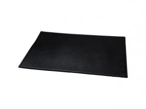 , Bureauonderlegger Alassio echt leer. zwart 65x45cm