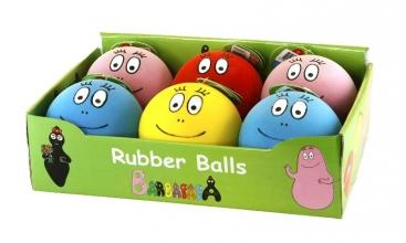 Barbapapa: Rubberen ballen - display met 6 stuks