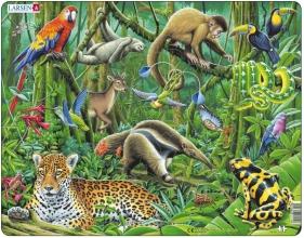 Larsen puzzel- Dieren in het regenwoud FH10