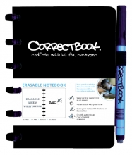 , Notitieboek Correctbook A6 blanco 40blz ink black