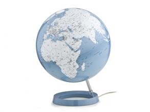 , globe Bright Azure 30cm diameter kunststof voet met         verlichting
