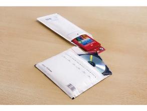 , luchtkussenenvelop Raadhuis 180x165mm CD wit plakstrip doos a 100 stuks