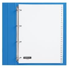 , Tabbladen Quantore 4-gaats 1-31 genummerd wit PP