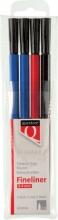 , Fineliner Quantore rond 0.4mm assorti 4stuks