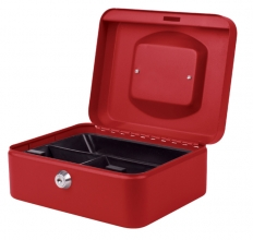 , Geldkist Pavo 200x160x90mm rood