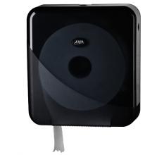 , Dispenser Euro Pearl toiletrolhouder maxi zwart