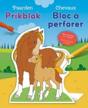 , Paarden prikblok Chevaux bloc à perforer