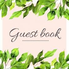 Mooie Gastenboeken , Green Leaves Floral Tropisch Gastenboek voor Huwelijk | Bruiloft | Verjaardag | Babyshower | Babyborrel | Verjaardag | Pensioen | Feest en meer