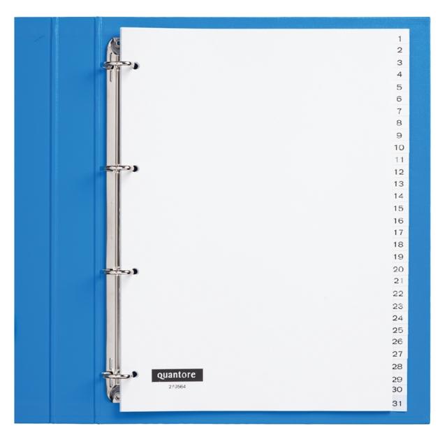 ,Tabbladen Quantore 4-gaats 1-31 genummerd wit PP