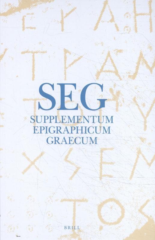 ,Supplementum Epigraphicum Graecum, Volume LXV (2015