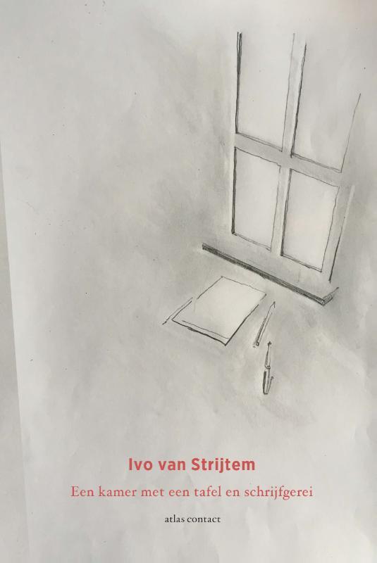 Ivo van Strijtem,Een kamer met een tafel en schrijfgerei