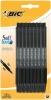 ,<b>Balpen Bic Soft Feel Clic Grip zwart medium blister à 15st</b>
