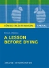 Gaines, Ernest J.,A Lesson Before Dying. Niedersachsen