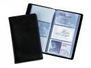 ,visitekaartmap Sigel kunstleer zwart voor 120 kaarten