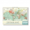 ,Puzzel vintage world map 1000 st. Jigsaw rechthoekig