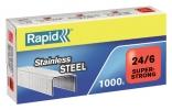 ,<b>Nieten Rapid 24/6 RVS super strong 1000 stuks</b>