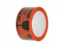<b>verpakkingstape Raadhuis met  50mmx66m oranje met zwart tekst                             breekbaar 3 rol in krimp</b>,