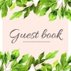 Mooie  Gastenboeken ,Green Leaves Floral Tropisch Gastenboek voor Huwelijk | Bruiloft | Verjaardag | Babyshower | Babyborrel | Verjaardag | Pensioen | Feest en meer