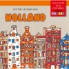 ,Postcard colouring book Holland