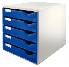 , Ladenblok Leitz 5280 5 laden blauw