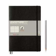 Lt349296 , Leuchtturm notitieboek composition softcover 178x254 mm  lijn zwart