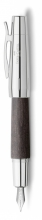 , vulpen Faber-Castell E-motion chroom/ zwart perenhout M