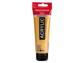 , Talens amsterdam acrylverf tube 120 ml goudgeel  253