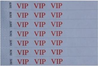 , Polsbandje CombiCraft met opdruk VIP wit