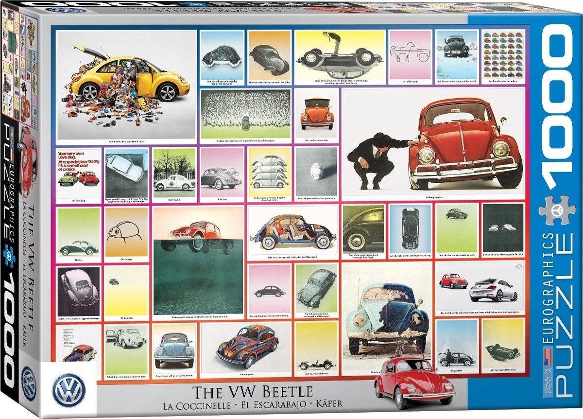 Eur-6000-0800,Puzzel the vw beetle eurographics  1000 stuks