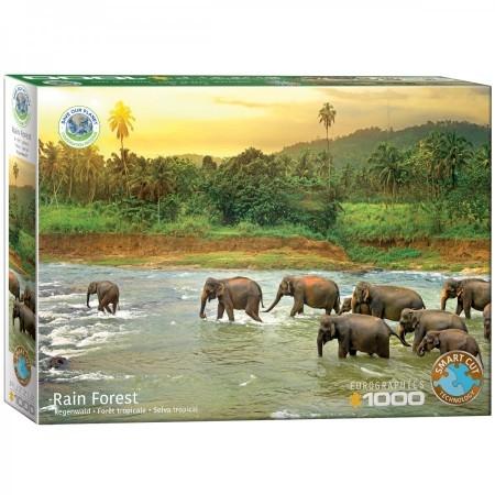 Eur-6000-5540,Puzzel save the planet! rain forest  eurographics 1000 stukjes