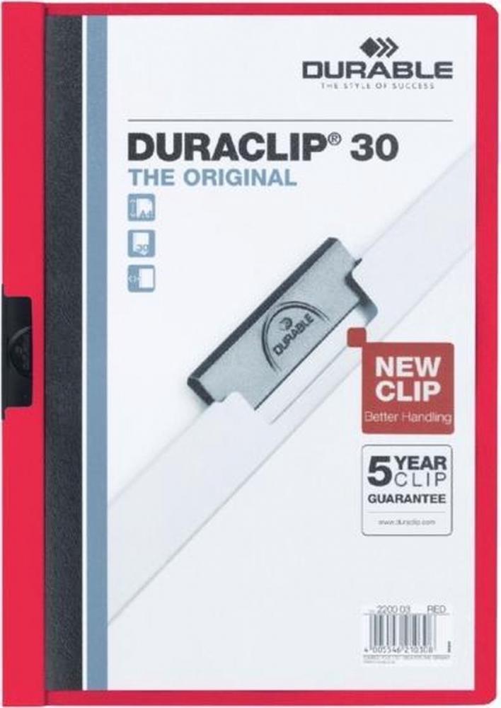 ,Klemmap Durable 2200 A4 3mm rood