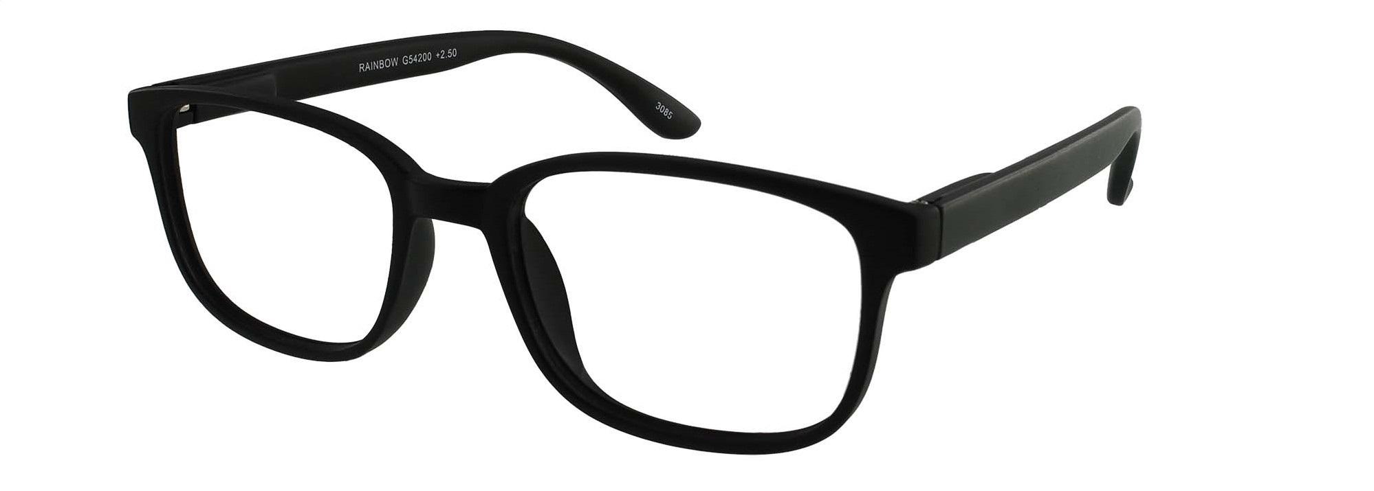 ,Leesbril +2.50 regenboog zwart
