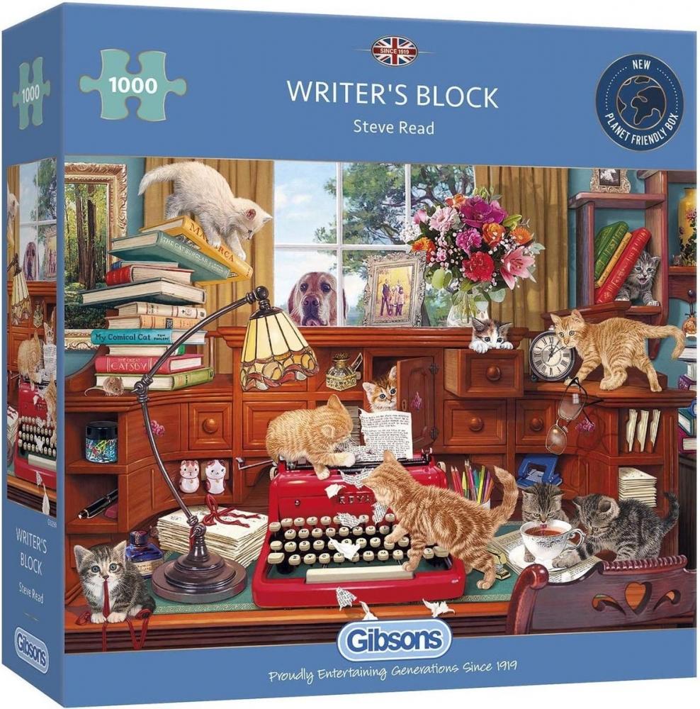 Gib-g6290,Puzzel- writer`s block - gibsons - 1000 stuks