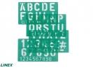 ,<b>Lettersjabloon Linex 50mm hoofdletters/letters/cijfers</b>