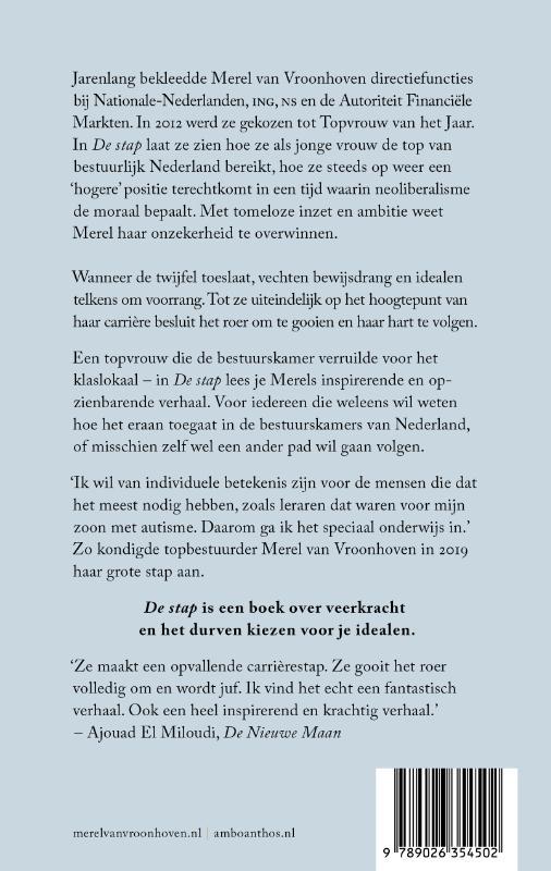 Merel van Vroonhoven,De stap