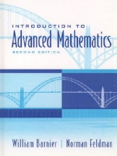 William J. Barnier,   Norman Feldman Introduction to Advanced Mathematics