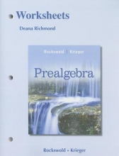 Gary K. Rockswold,   Terry A. Krieger Worksheets for Prealgebra